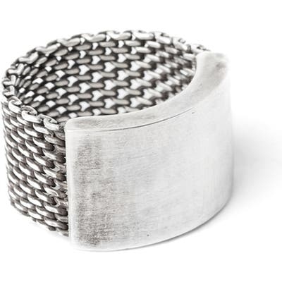 Title Of Work Macro Mesh Ring