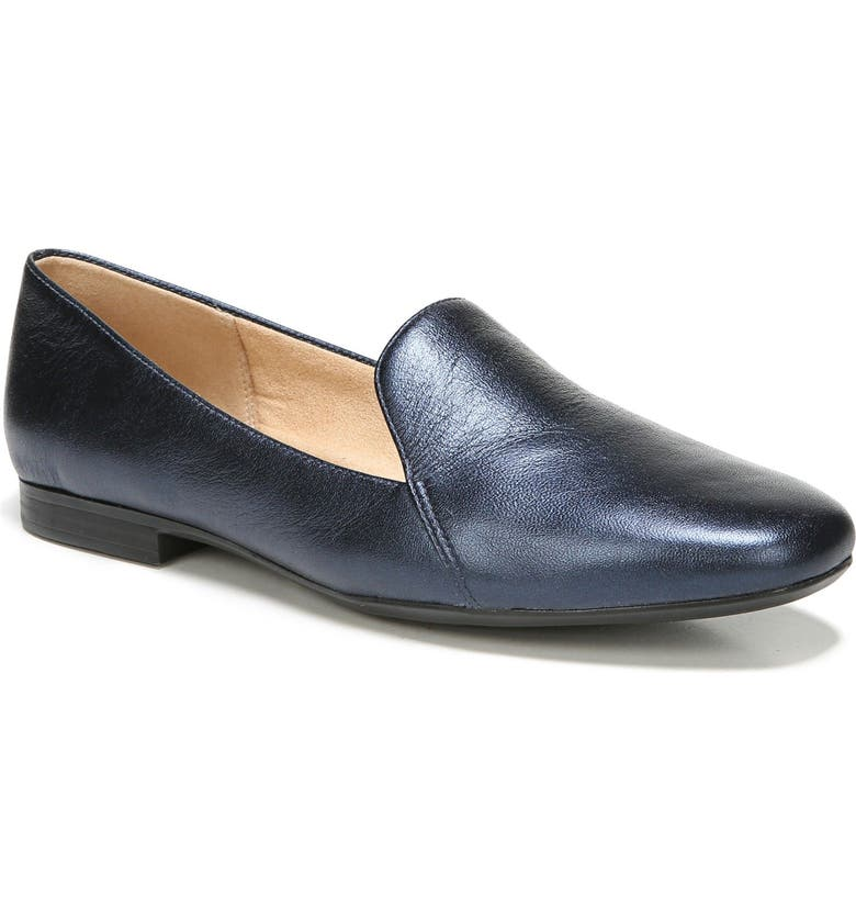 NATURALIZER Emiline Flat Loafer, Main, color, NAVY LEATHER