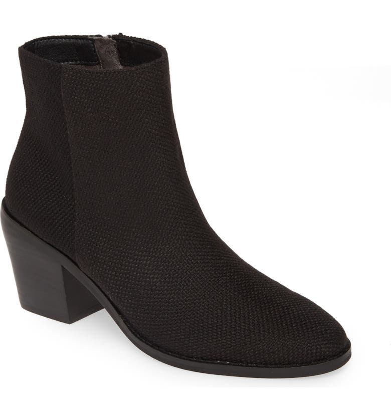 BAND OF GYPSIES Loveland Bootie, Main, color, BLACK WOVEN JUTE CANVAS