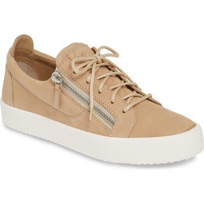 Giuseppe Zanotti Low Top Sneaker, Beige