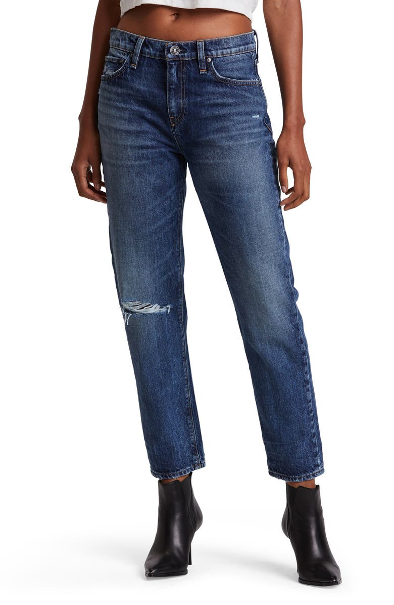 HUDSON JEANS Jessi High Waist Nonstretch Relaxed Boyfriend Jeans, Main, color, SPEECHLESS