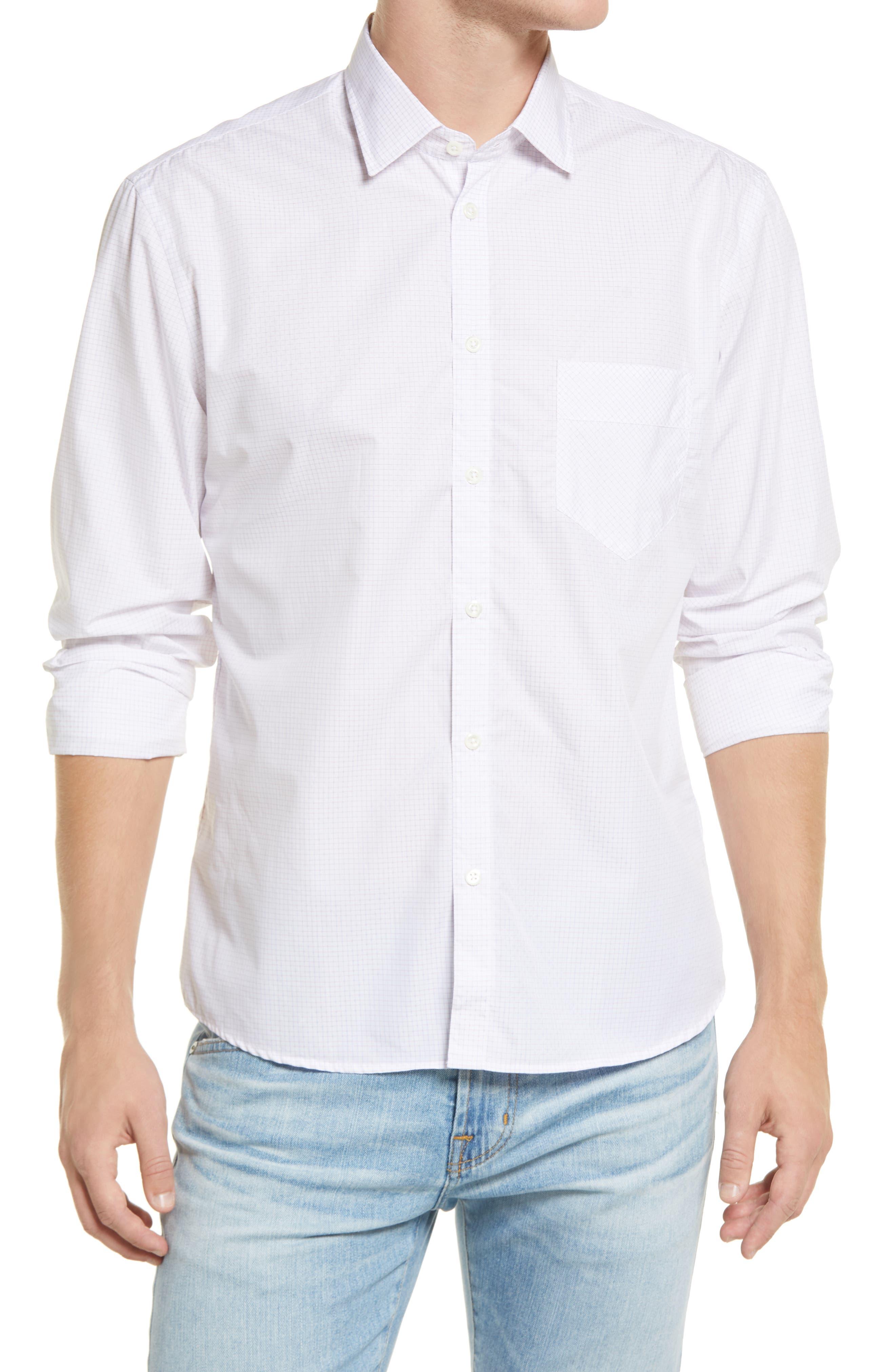 John T Standard Fit Check Button-Up Shirt