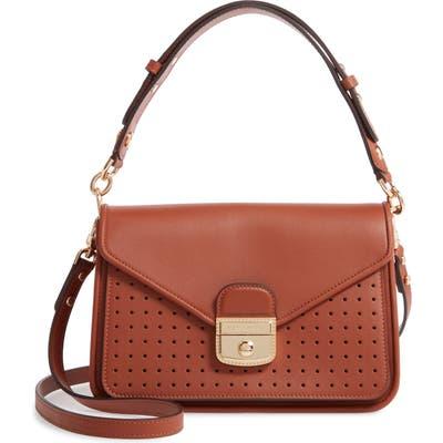 Longchamp Mademoiselle Calfskin Leather Crossbody Bag - Brown