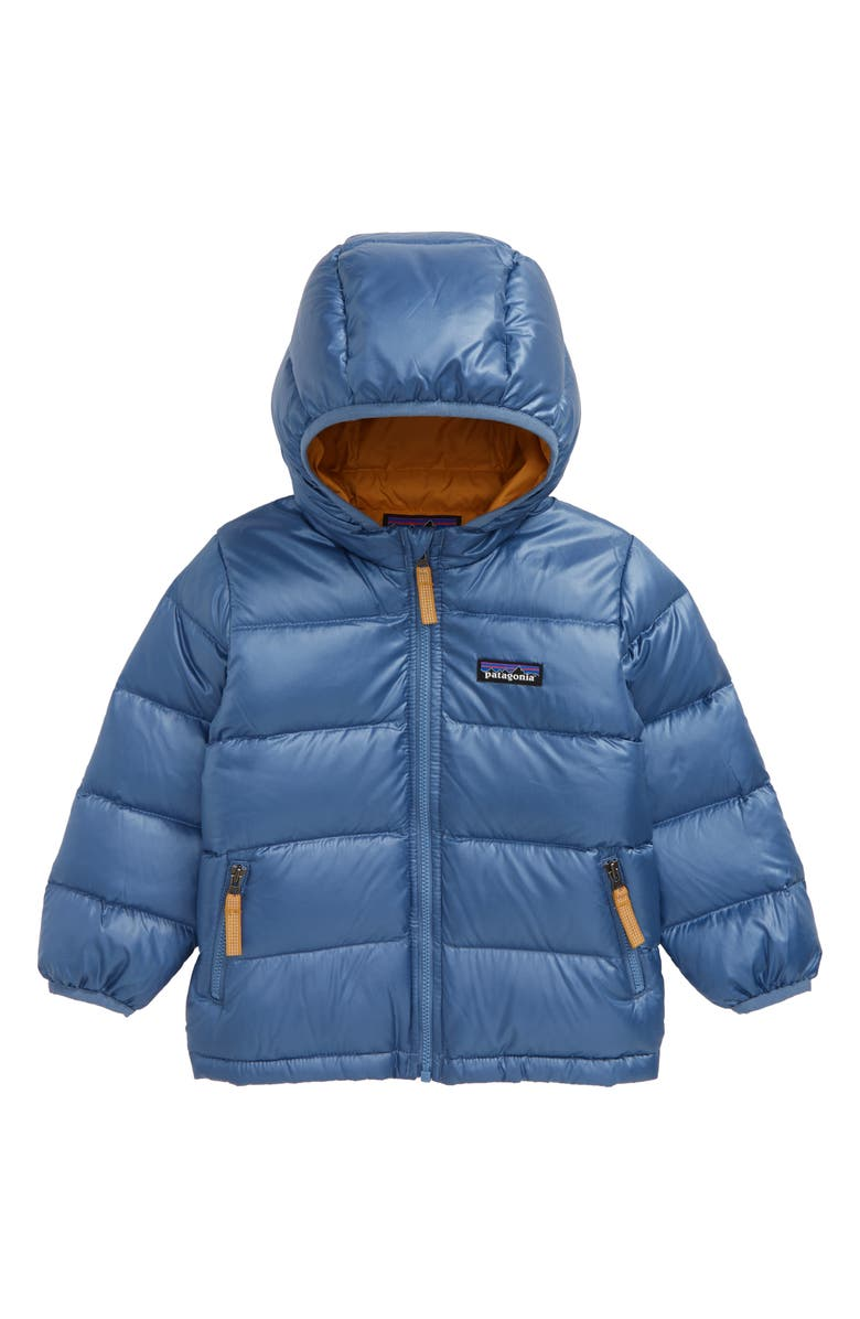 PATAGONIA Hi-Loft Water Repellent 600 Fill Power Down Sweater Hoodie, Main, color, WOBL WOOLLY BLUE