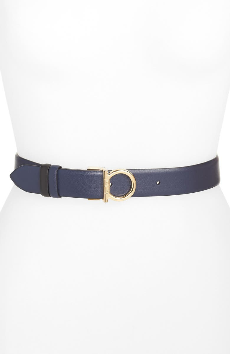 SALVATORE FERRAGAMO Leather Belt, Main, color, 400