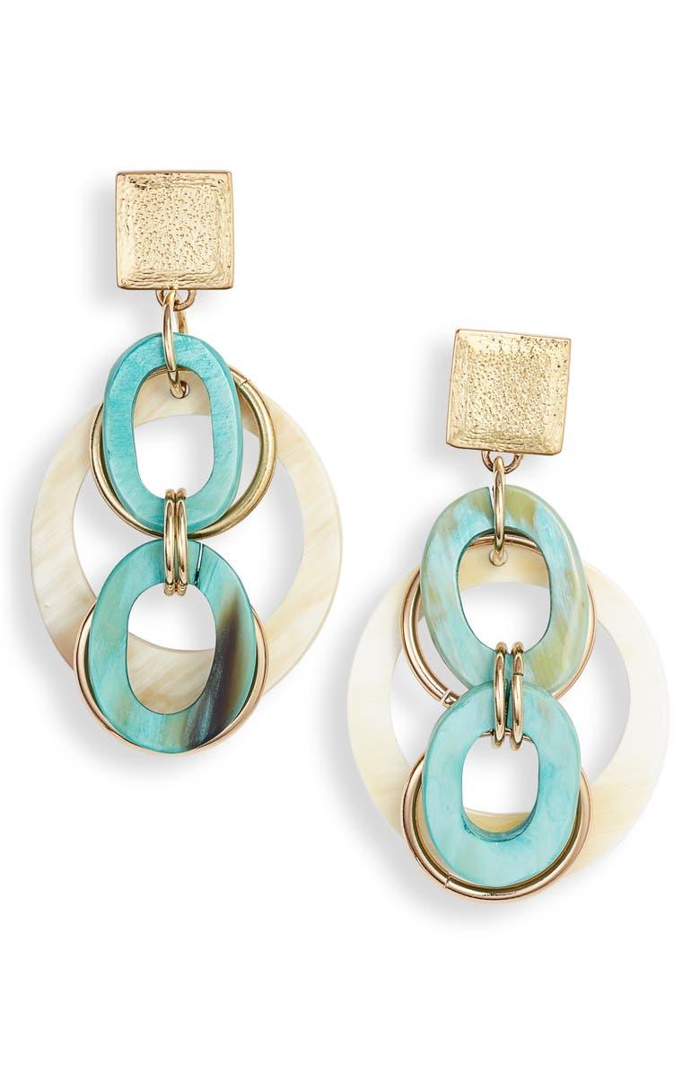 AKOLA Meriah Statement Drop Earrings, Main, color, 400
