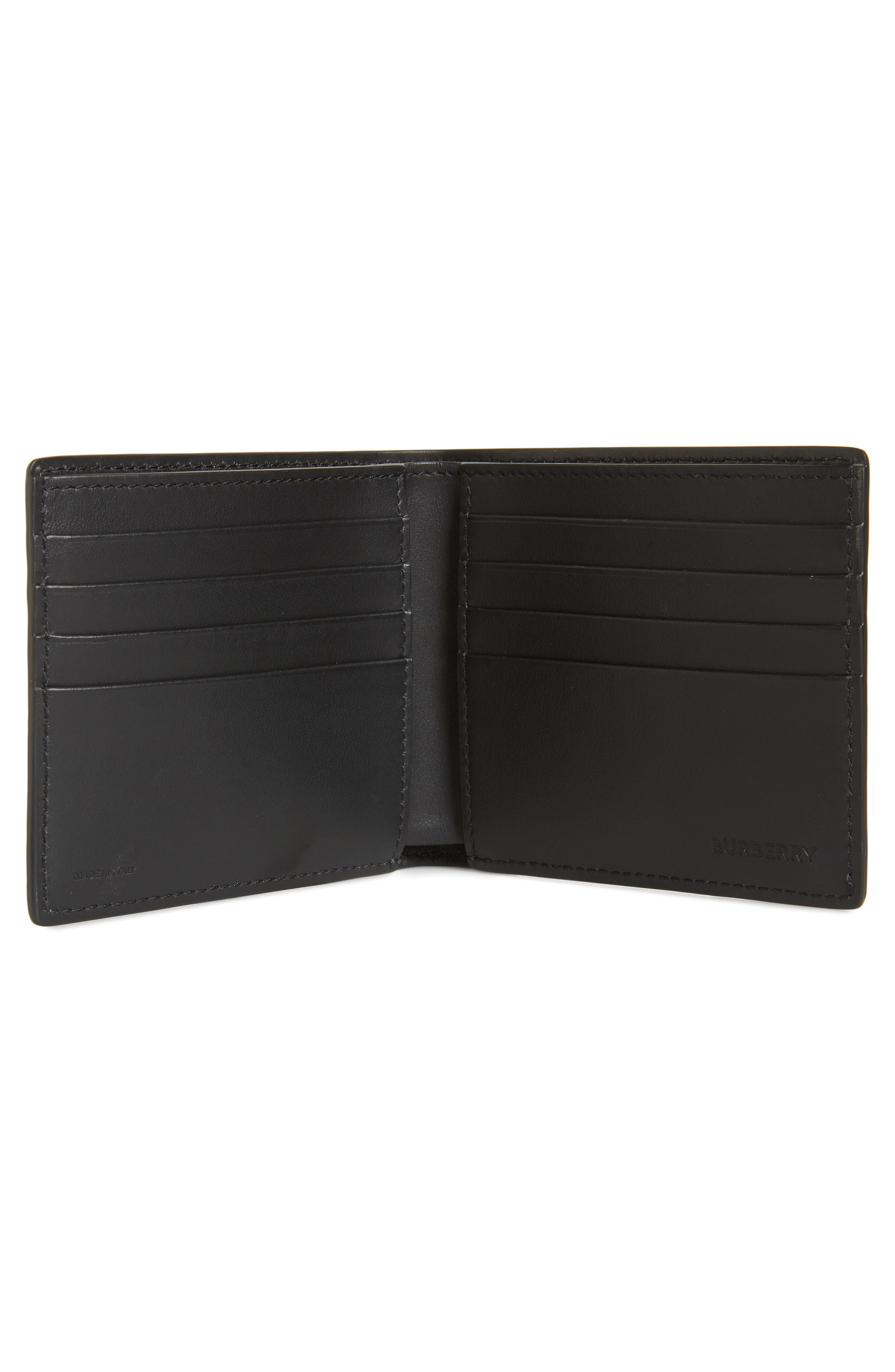 ,                             Sandon Monogram Leather Wallet,                             Alternate thumbnail 2, color,                             BLACK