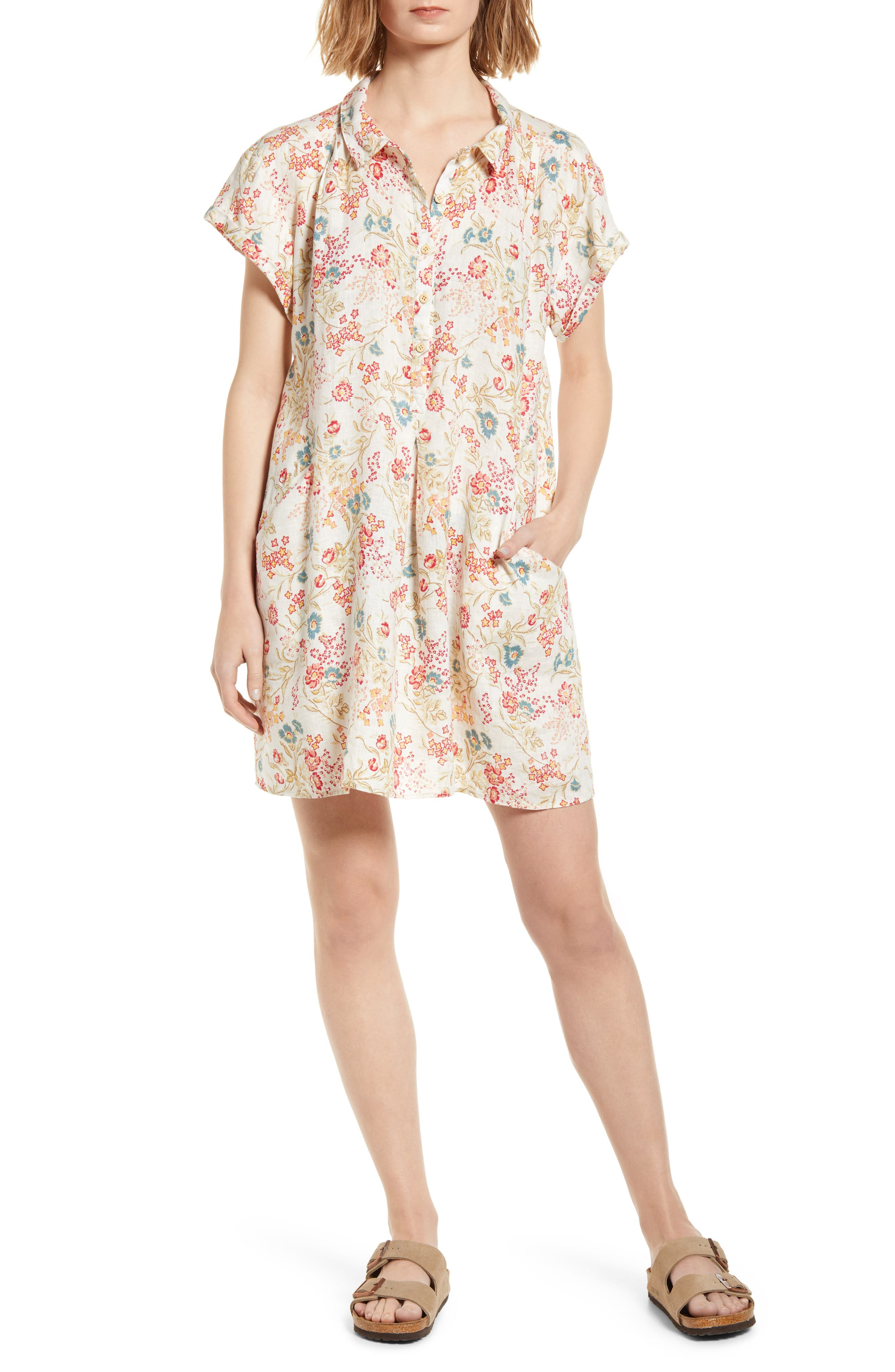 Hana Floral Organic Cotton Shirtdress