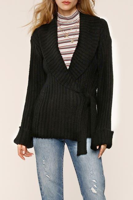 Image of Heartloom Ribbed Knit Waist Tie Cardigan