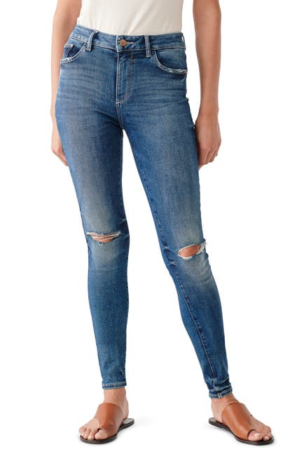 Image of DL1961 Florence Cropped Mid-Rise Skinny Jeans