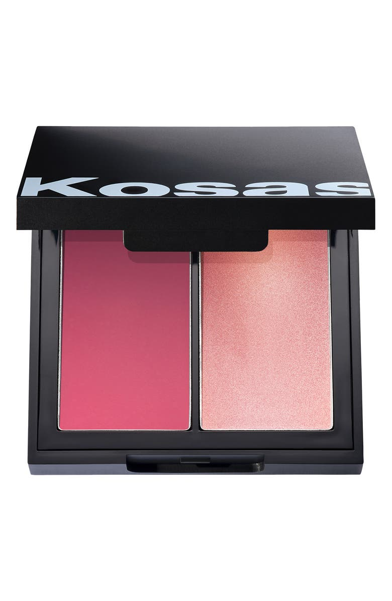 KOSAS Kosås Color & Light Cream Blush & Highlighter Palette, Main, color, 8TH MUSE HIGH INTENSITY