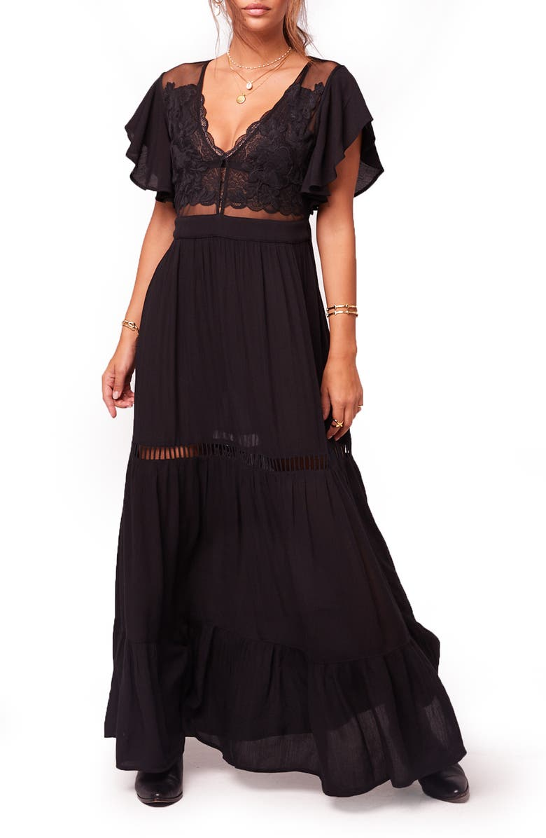 BAND OF GYPSIES All You Need Is Love Maxi Dress, Main, color, 001