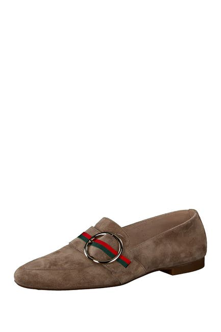 Image of Paul Green Banner Buckle Suede Loafer