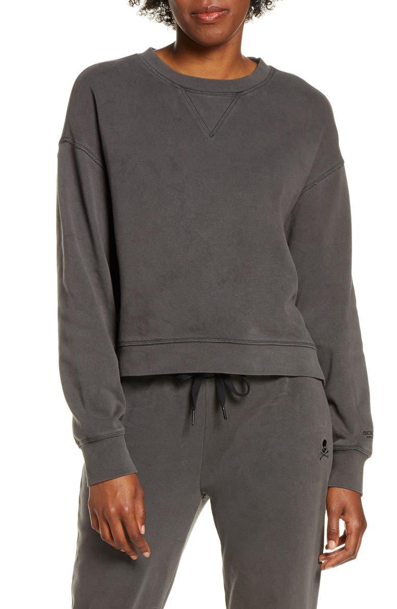 SOUL BY SOULCYCLE Favorite Fleece Sweatshirt, Main, color, 001