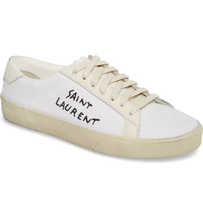 Saint Laurent Court Classic Lace Up Sneaker Women