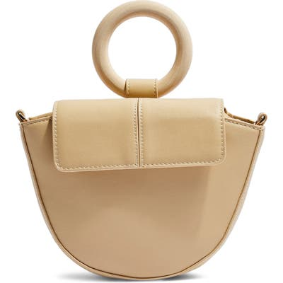 Topshop Gigi Ring Handle Faux Leather Grab Bag -
