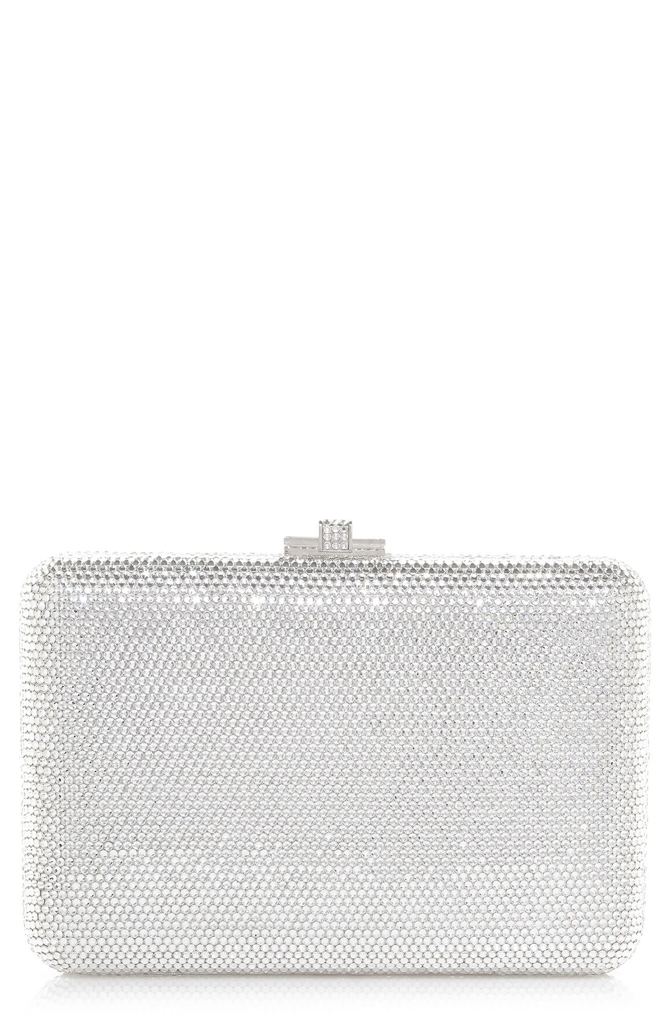 Couture Crystal Embellished Slim Frame Clutch