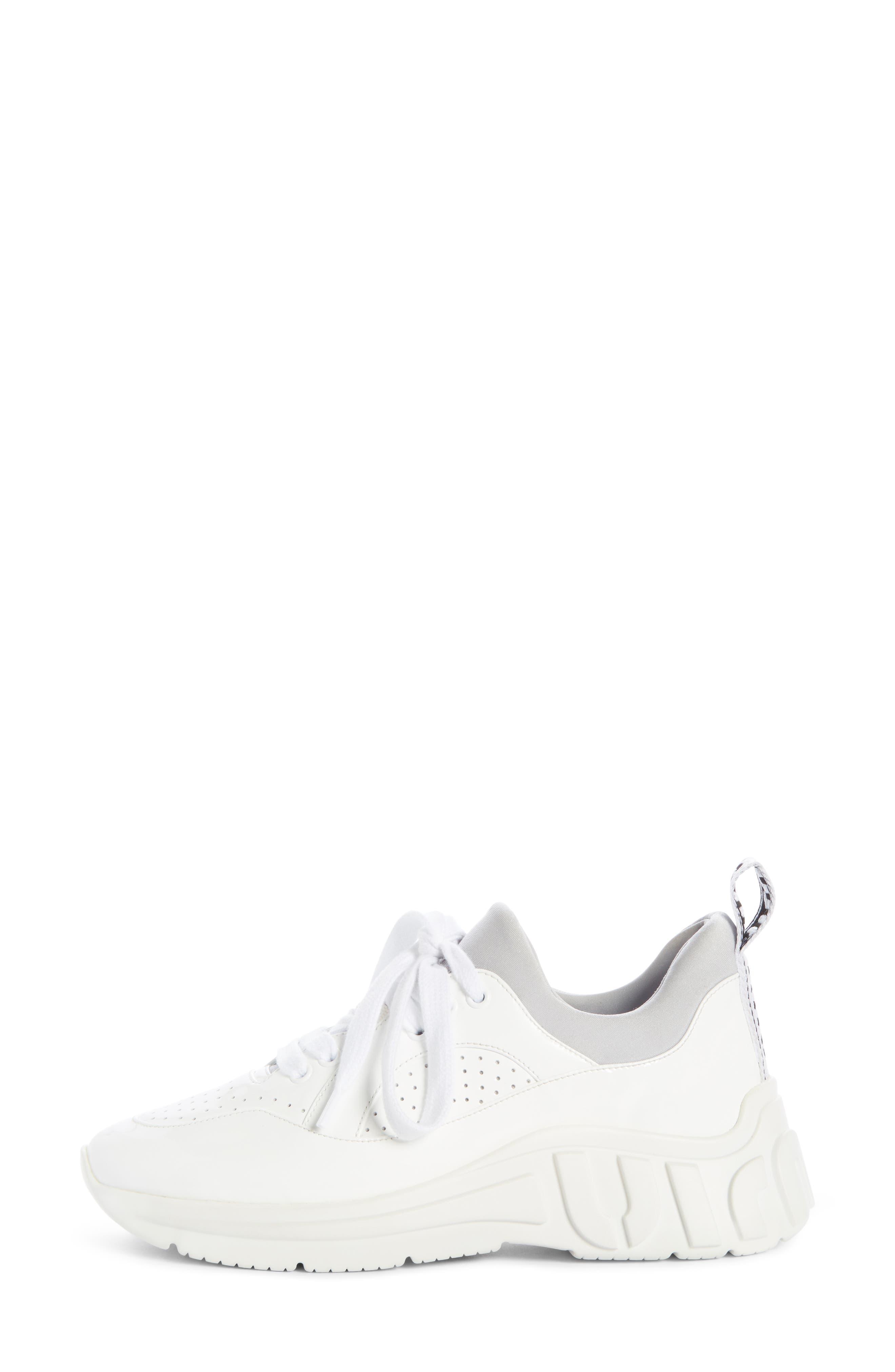 ,                             Logo Sole Sneaker,                             Alternate thumbnail 3, color,                             WHITE