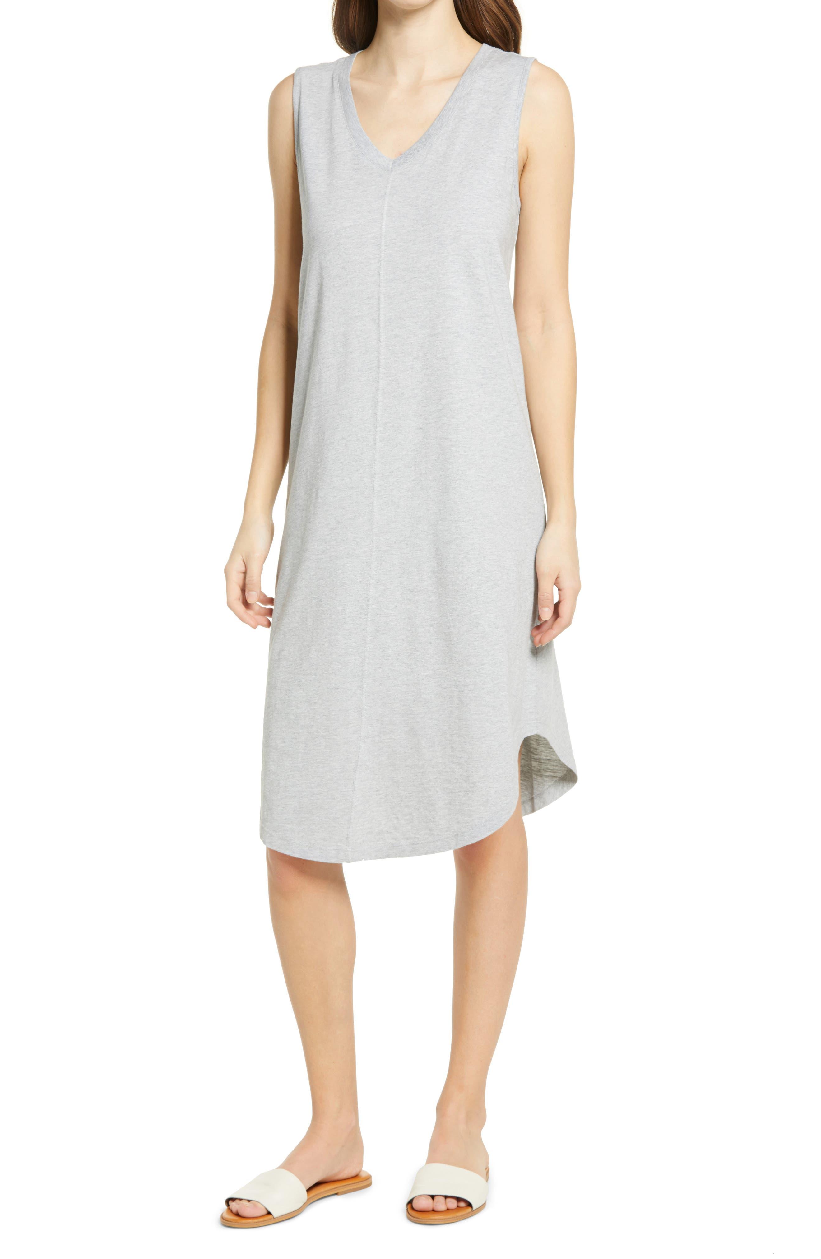 Women's Caslon Shirttail Tank Dress