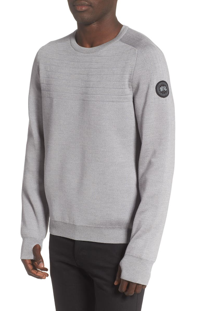 CANADA GOOSE Conway Crewneck Merino Wool Sweater, Main, color, 020
