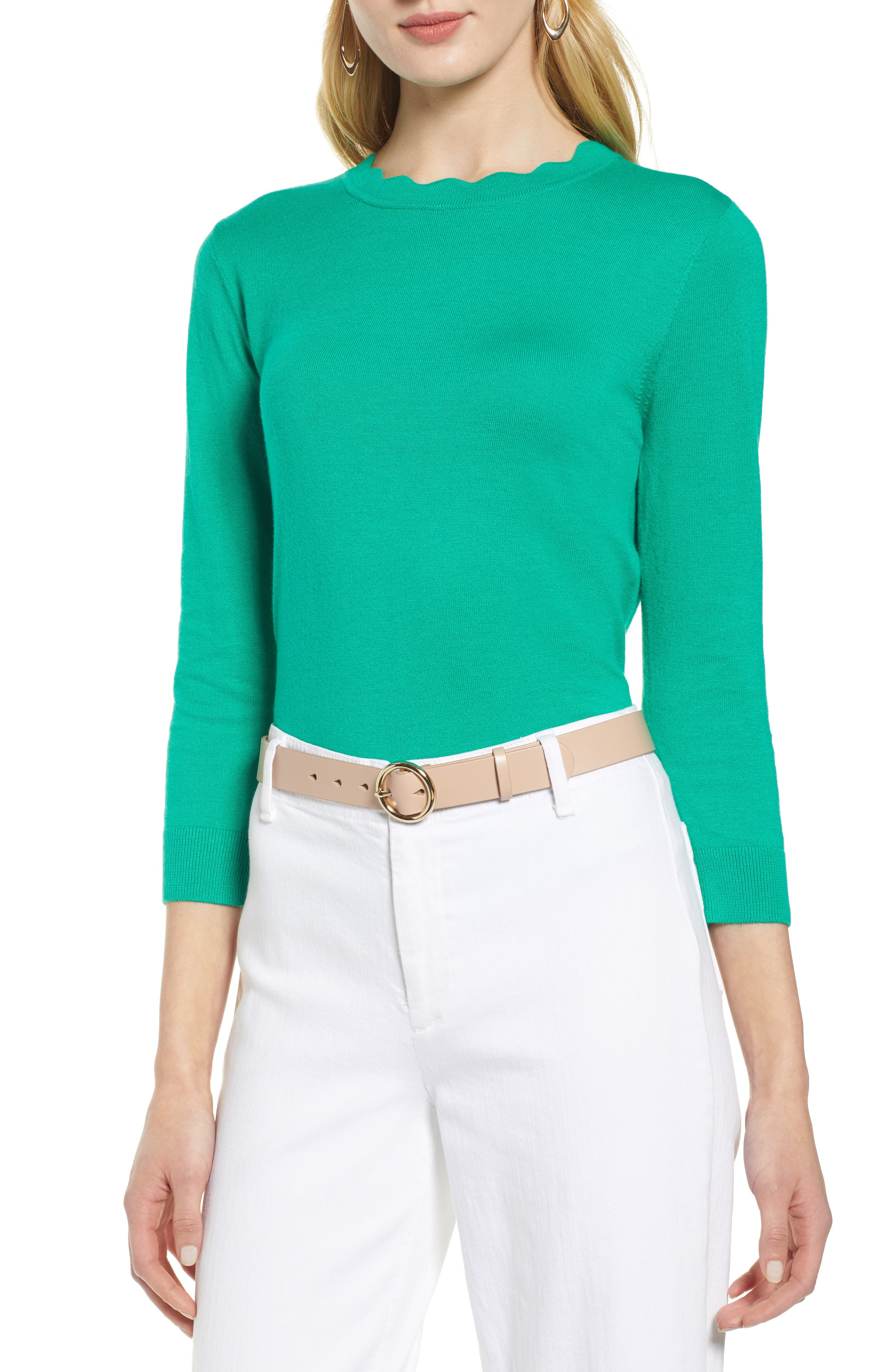 ,                             Scallop Neck Sweater,                             Main thumbnail 13, color,                             310