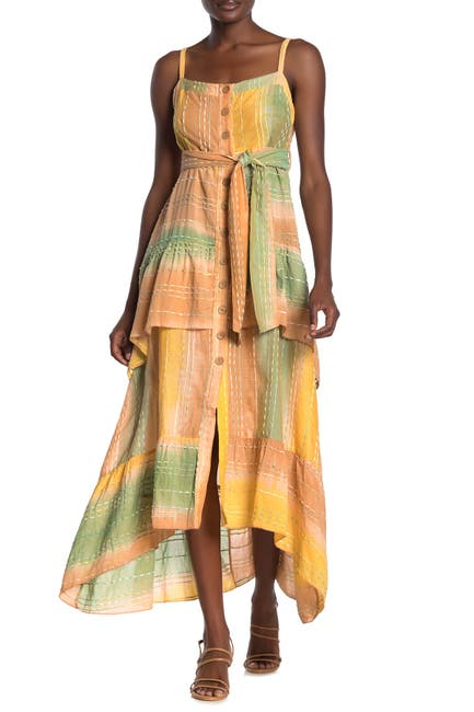 Image of Z&L Europe Square Neck Patchwork Maxi Dress