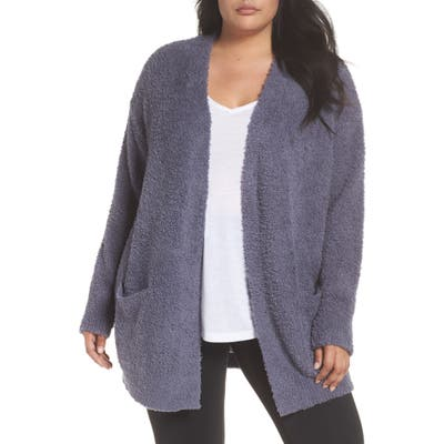 Plus Size Barefoot Dreams Cozychic Cardigan, Blue