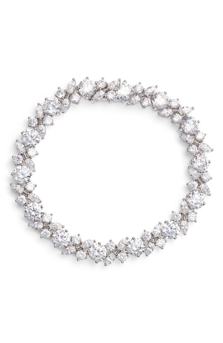 NADRI Cluster Cubic Zirconia Bracelet, Main, color, 040