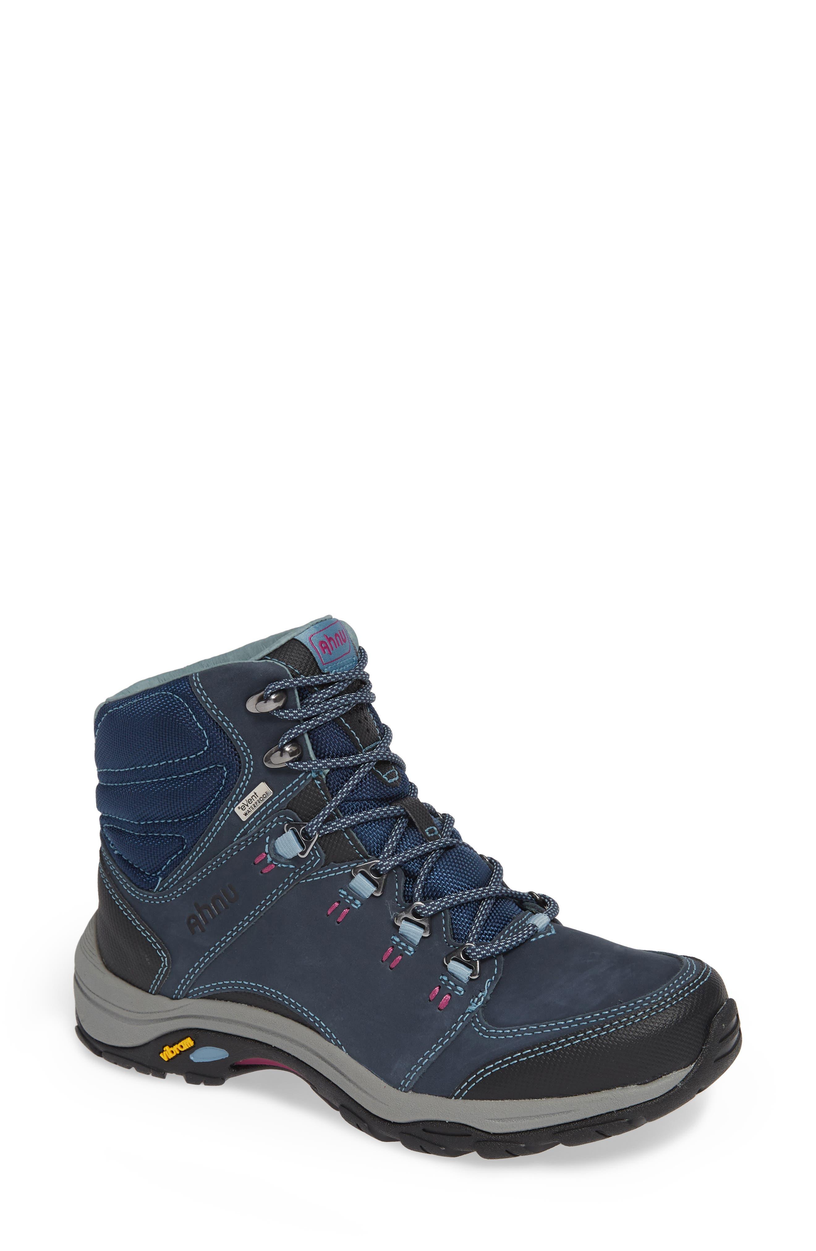 Ahnu By Teva Montara Iii Waterproof Hiking Boot- Blue
