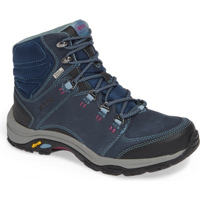 Ahnu By Teva Montara Iii Waterproof Hiking Boot- Blue