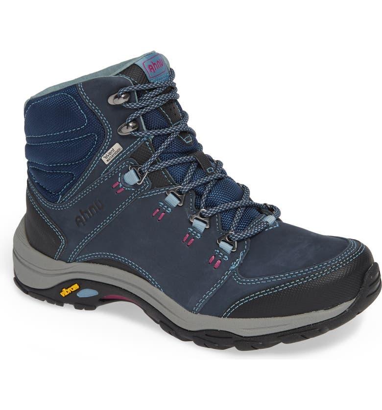 TEVA Ahnu by Teva Montara III Waterproof Hiking Boot, Main, color, BLUE SPELL NUBUCK LEATHER