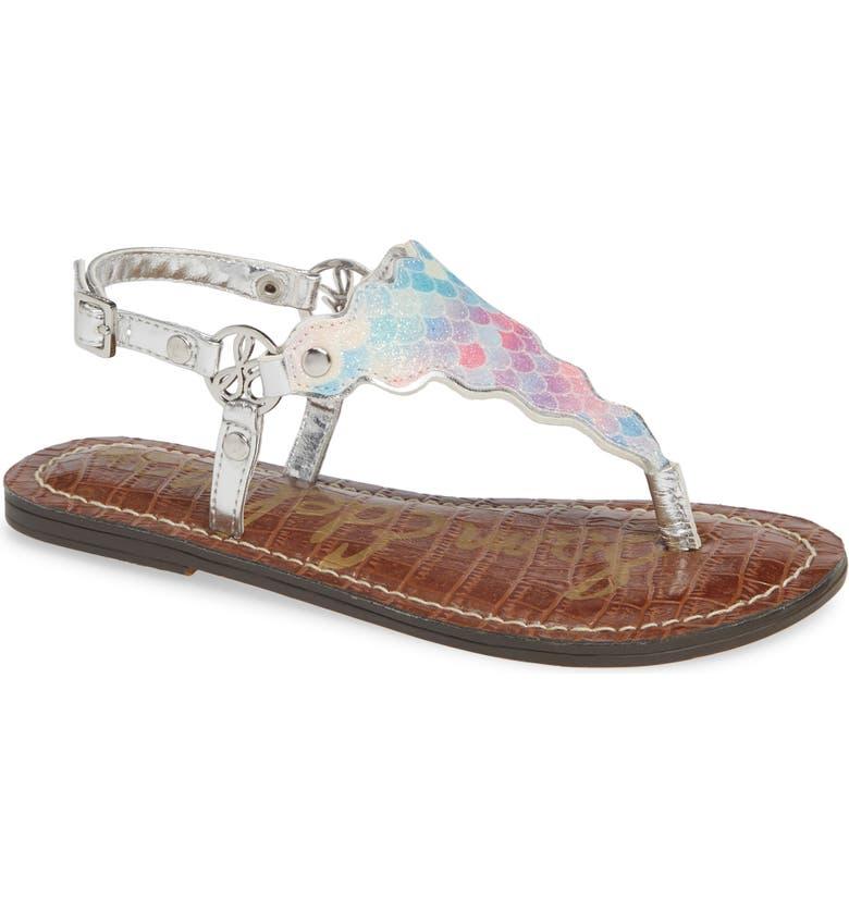 SAM EDELMAN Greta Scallop Sparkle Sandal, Main, color, 040