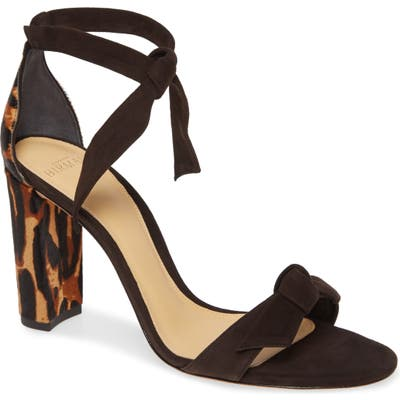 Alexandre Birman Clarita Genuine Calf Hair Ankle Strap Sandal- Brown (Nordstrom Exclusive)