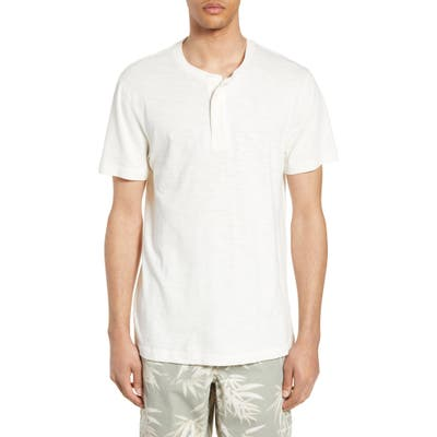French Connection Slubbed Short Sleeve Henley, White