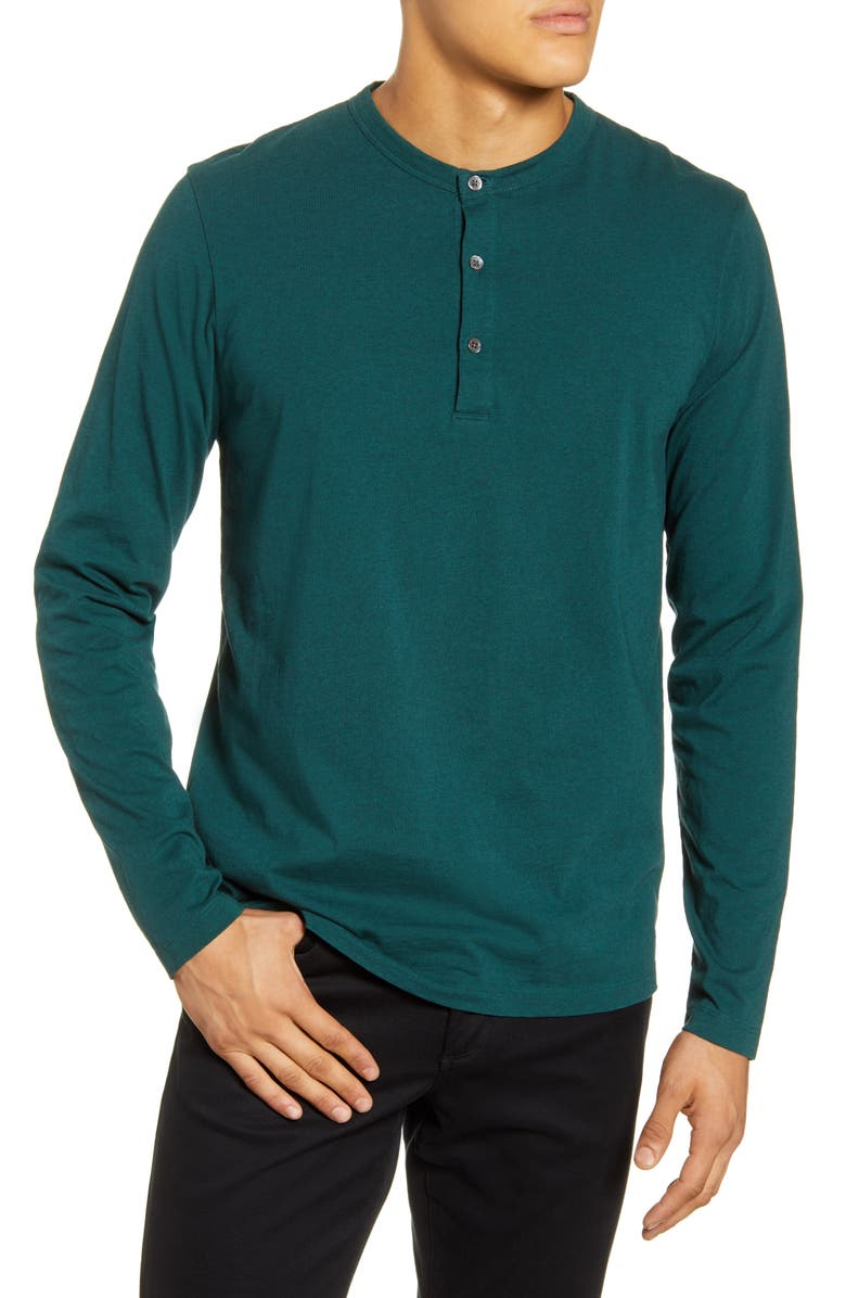 THEORY Essential Henley, Main, color, VETIVER