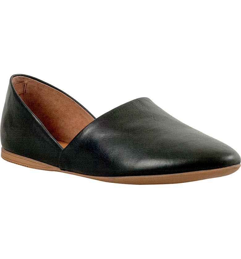 MIZ MOOZ Kimmy Flat, Main, color, BLACK LEATHER