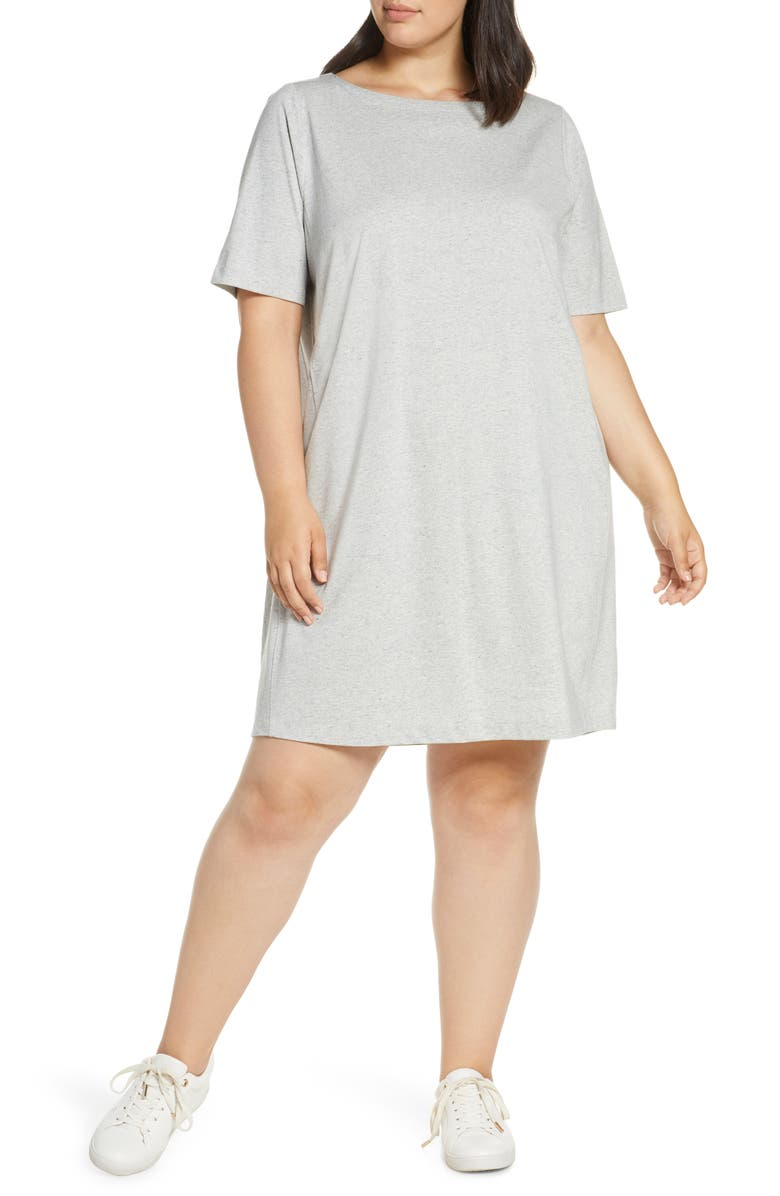 Eileen Fisher Organic Cotton Refibra Lyocell T Shirt Dress Plus Size