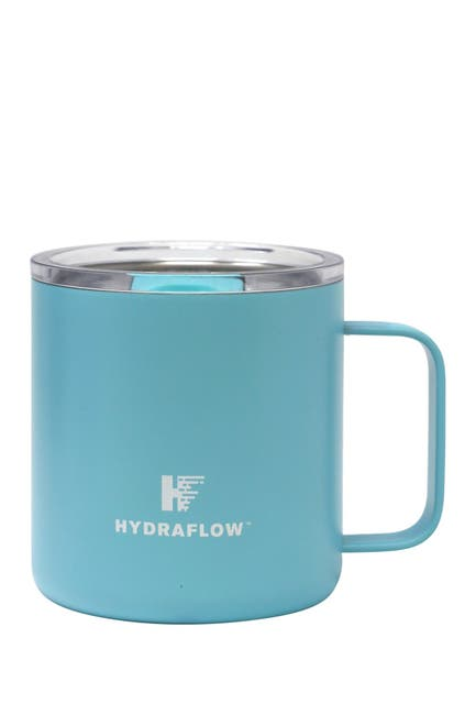 Image of Gourmet Home HYDRAFLOW 10oz. PARKER Insulated Stainless Steel Mug with Slide Lid - Aqua