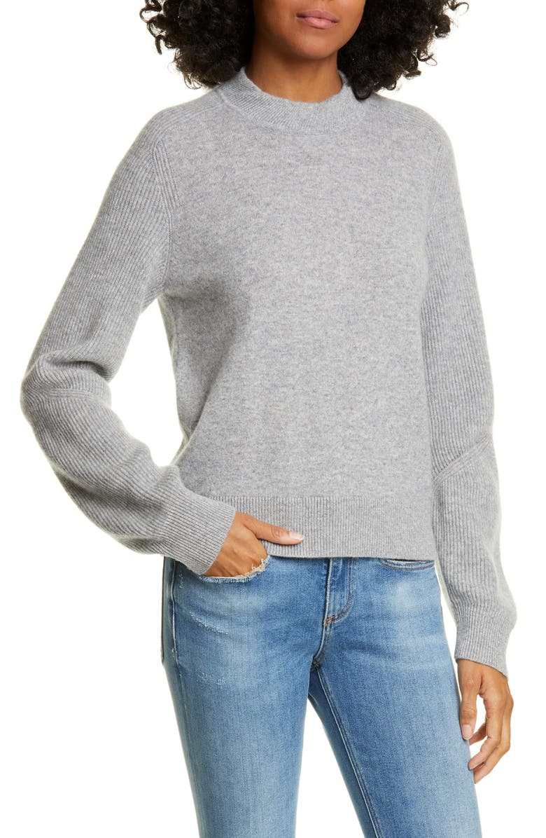 RAG & BONE Logan Cashmere Sweater, Main, color, HEATHER GREY