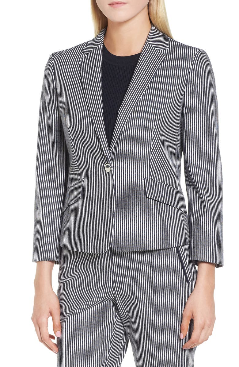 4fa5f2c65 Katemika Stripe Stretch Cotton Suit Jacket, Main, color, 461