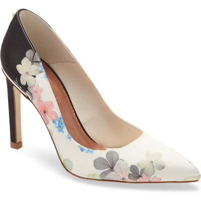 Ted Baker London Melnips Pointed Toe Pump, Ivory