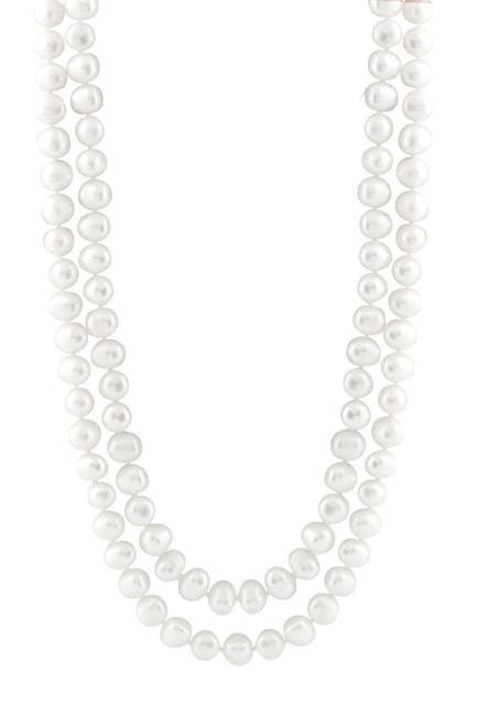 Image of Splendid Pearls Endless White 8-10mm Pearl Necklace