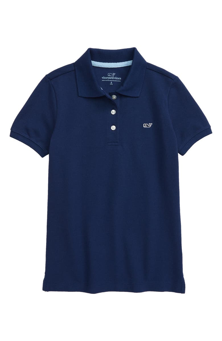 VINEYARD VINES Short Sleeve Polo Shirt, Main, color, DEEP BAY