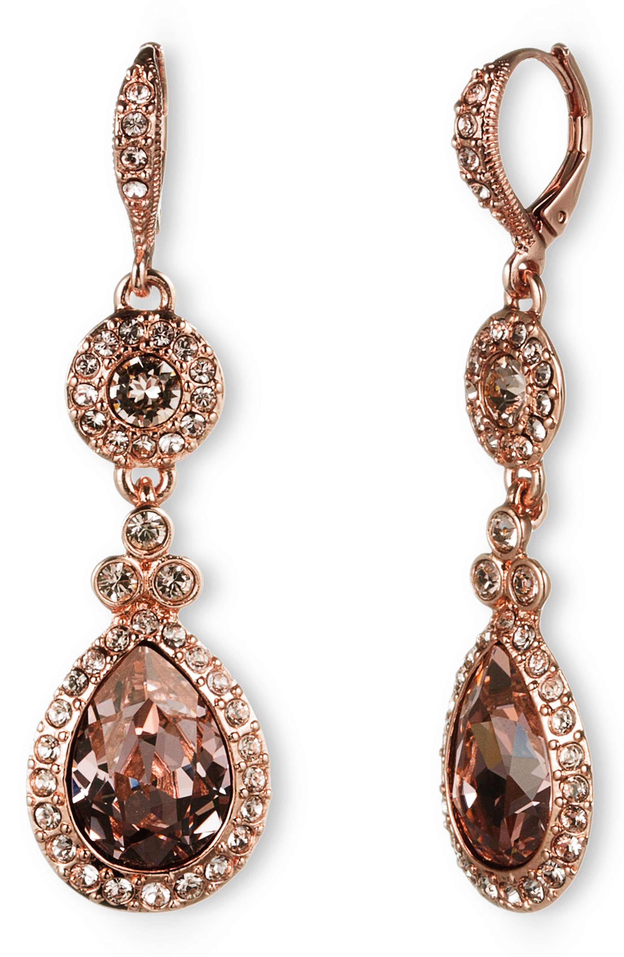 ,                             Crystal Teardrop Earrings,                             Main thumbnail 1, color,                             600