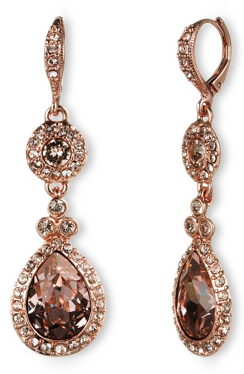 GIVENCHY Crystal Teardrop Earrings, Main, color, 600