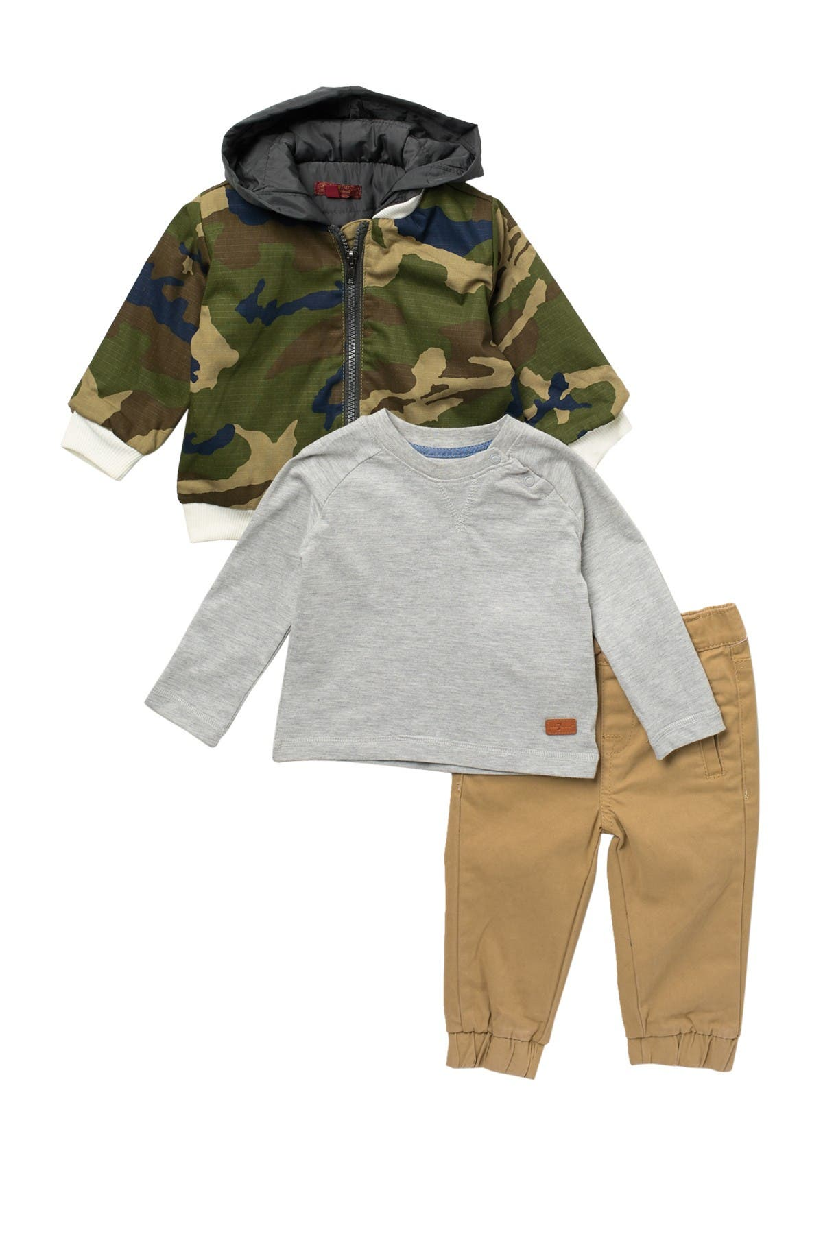 Image of 7 For All Mankind Camo Print Jacket & Joggers Set