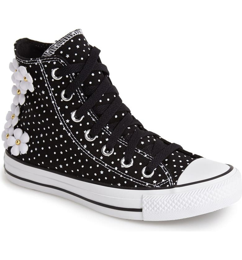Converse Chuck Taylor® All Star® 'Floral Polka Dot' High Top