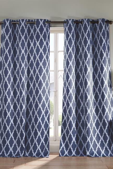 Image of Duck River Textile Kittattinny Heavy Blackout Grommet Panel Curtains - Set of 2 - Indigo