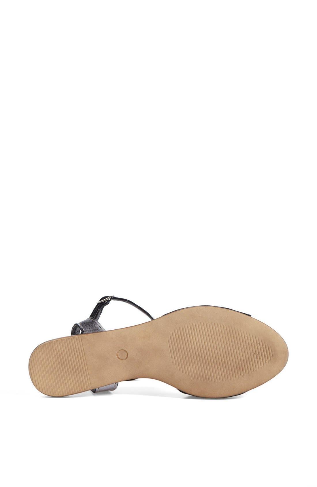 ,                             'Brand New' Ankle Strap Calf Hair Sandal,                             Alternate thumbnail 4, color,                             001
