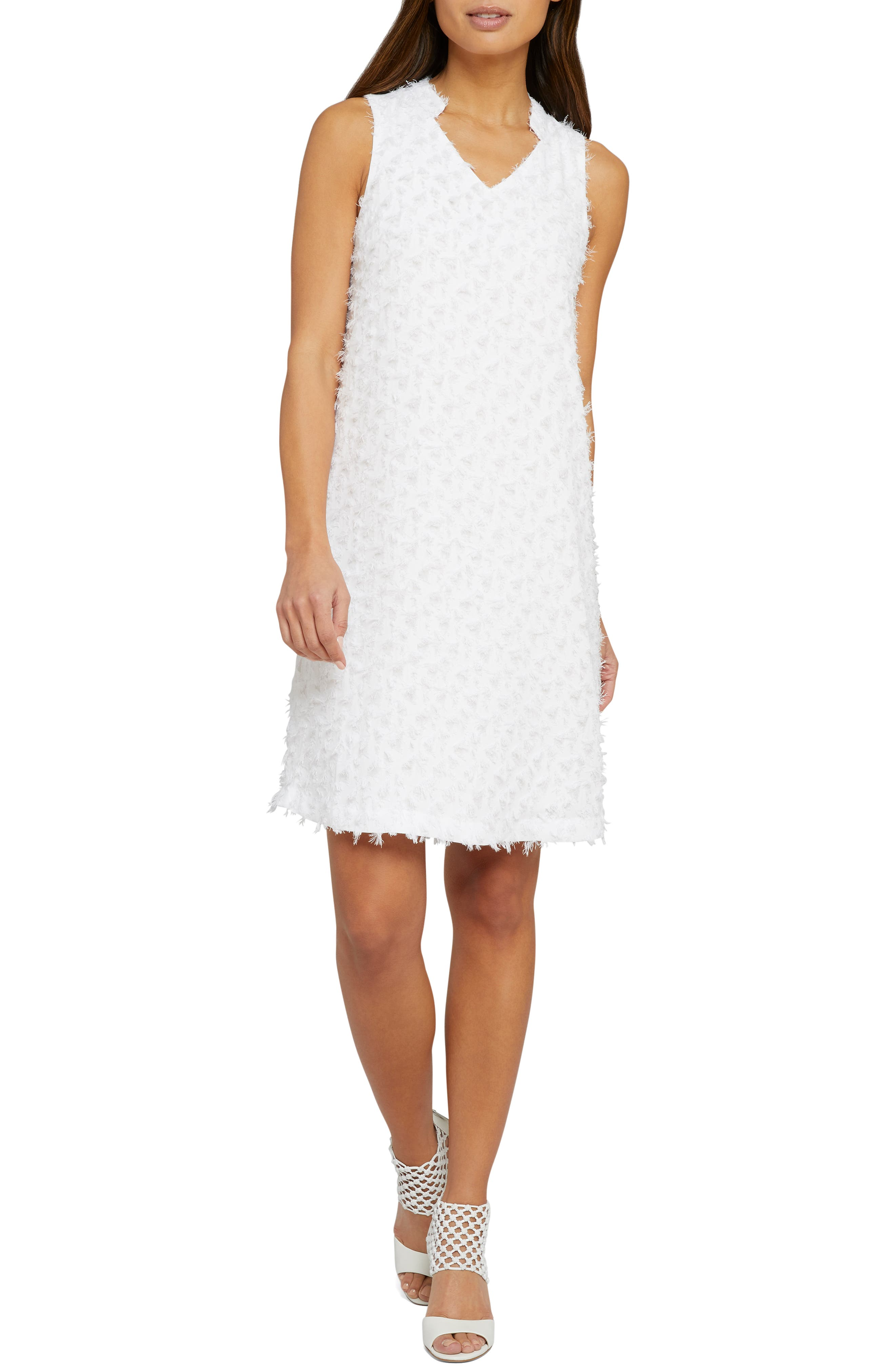 Nic+Zoe Clip It Up Shift Dress, White